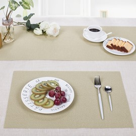 Plastic Material Heat Insulation 45*30CM Rectangle Shape Table Placemat