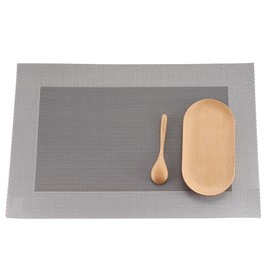 Rectangle Shape 45*30CM Home Decorative Plastic Material Heat Insulation Table Placemat