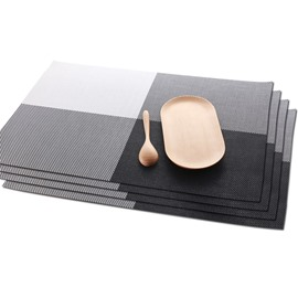 Plastic Material Heat Insulation Rectangle Shape 45*30CM Table Placemat
