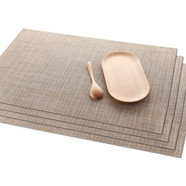 45*30CM Plastic Material Heat Insulation Rectangle Shape Table Placemat