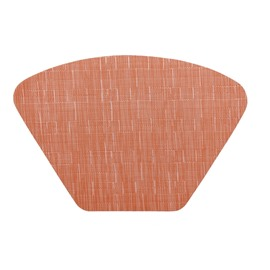 Fan Shape 48*33CM Home Decorative Plastic Material Heat Insulation Table Placemat