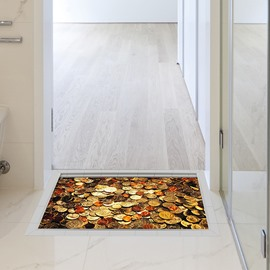 Gold Coins Slipping-Preventing Water-Proof Bathroom 3D Floor Sticker