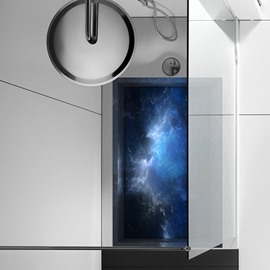 Dark Blue Night Sky Slipping-Preventing Water-Proof Bathroom 3D Floor Sticker