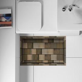 Creative Wood Flooring Design Slipping-Preventing Water-Proof Bathroom 3D Floor Sticker