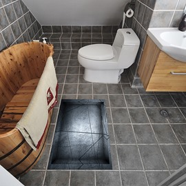 Modern Abstract Style Slipping-Preventing Water-Proof Bathroom 3D Floor Sticker