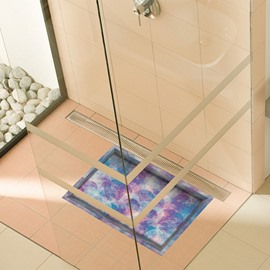 Colorful Geometrical Pattern Slipping-Preventing Water-Proof Bathroom 3D Floor Sticker