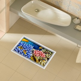 Unique Design Plant in Sea Slipping-Preventing Water-Proof 3D Floor Sticker