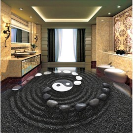 Awesome Fancy Stone Tai Chi Pattern Home Decorative Splicing Custom 3D Floor Murals