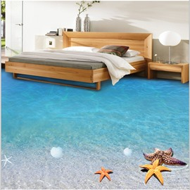Limpid Blue Sea Scenery Home Decorative Waterproof Wallpaper 3D Floor Murals