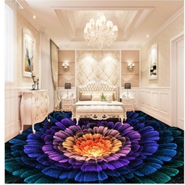 Splendid Three-dimensional Colorful Flower Pattern Antiskid and Waterproof 3D Floor Murals