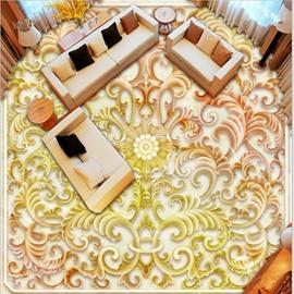 Classic Flower Pattern Living Room Decoration Waterproof 3D Floor Murals