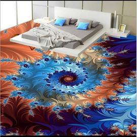 Charming Modern Design Creative Flower Pattern Waterproof Splicing 3D Floor Murals