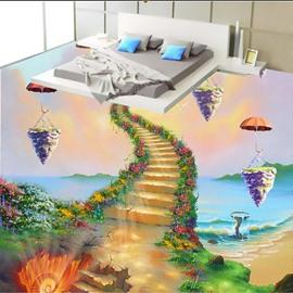 Vivid Unique Design Ladder to Heaven Pattern Waterproof Splicing 3D Floor Murals