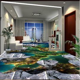 Fancy Natural Scenery Pattern Decorative Waterproof Splicing 3D Floor Murals