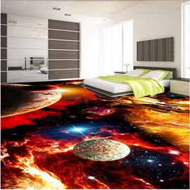Splendid Modern Design Galaxy Pattern Waterproof Splicing 3D Floor Murals