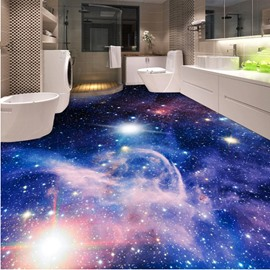 Dreamy Creative Design Galaxy Print Home Decorative Waterproof 3D Floor Murals