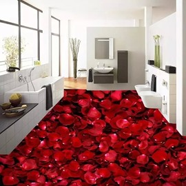Romantic Rose Petals Pattern Home Decorative Waterproof 3D Floor Murals