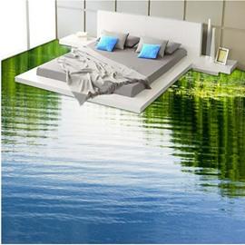 Calm Limpid Lake Print Design Home Decorative Waterproof Splicing 3D Floor Murals