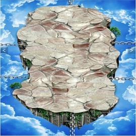 Amusing Stone Suspension Bridge Pattern Nonslip and Waterproof 3D Floor Murals