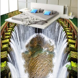 Fancy Modern Design Reservoir Waterfalls Pattern Decorative Waterproof 3D Floor Murals