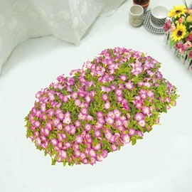 Simple Style Flower Pattern Home Decorative 3D Floor Stickers