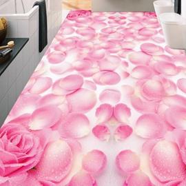 3D Dreamful Flower PVC Non-slip Waterproof Eco-friendly Self-Adhesive Floor Murals