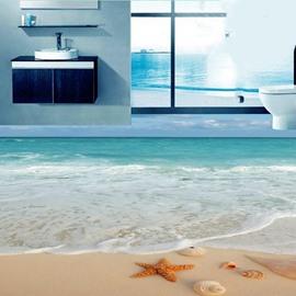PVC Non-slip 3D Creative Beach Waterproof Eco-friendly Self-Adhesive Floor Murals
