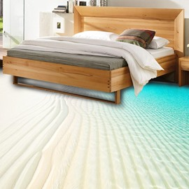 3D Dreamful Beach Non-slip Waterproof Eco-friendly Self-Adhesive Floor Mural