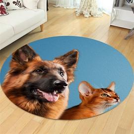 Big Dog Pattern Creative Environmental Friendly Waterproof Floor Sticker