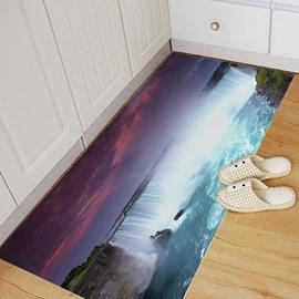 Waterfall Creative 3D Floor Stickers Waterproof Self-adhesive Bathroom Wall Stickers 23.6*47.2inch