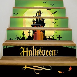 Halloween Cartoon Creative Wall Stickers Wall Decorations Stairs not fade Waterproof Removable