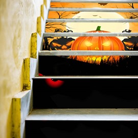 Halloween Cartoon Creative Wall Stickers Wall Decorations PVC Stairs not fade Waterproof Removable