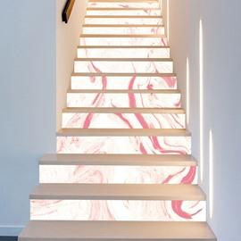 Waterproof Stair Murals Oil Painting 3D Stair Murals Modern Leopard Wall Stickers Wall Decorations PVC Waterproof Stair Murals