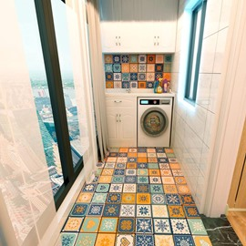 40Pcs Non-Slip Floor Sticker for Home Decor Peel and Stick Self-Adhesive Wall Sticker for Living Room Kitchen Bathroom 5.9x5.9 inch