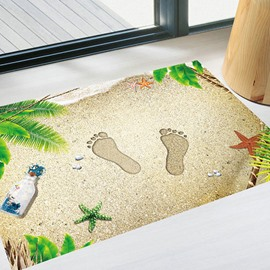 3D Beach Pattern Floor Stickers Anti-Slip Waterproof Self-Adhesive DIY Decals Home Decoration