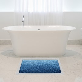 Gentle Ripples of Lake Water Slipping-Preventing Water-Proof Bathroom 3D Floor Sticker