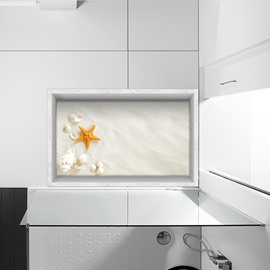 Seashells and Starfish Slipping-Preventing Water-Proof Bathroom 3D Floor Sticker