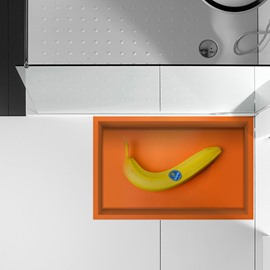 Creative Lonely Banana Slipping-Preventing Water-Proof Bathroom 3D Floor Sticker