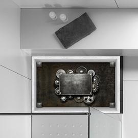 Mystery Mechanical Gadget Slipping-Preventing Water-Proof Bathroom 3D Floor Sticker
