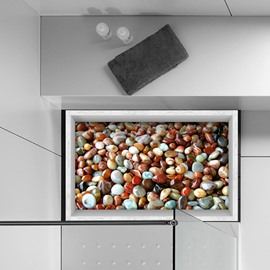 Colorful Smooth Pebbles Slipping-Preventing Water-Proof Bathroom 3D Floor Sticker