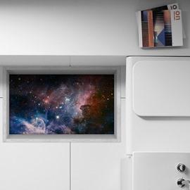Amazing Starring Night Sky Slipping-Preventing Water-Proof Bathroom 3D Floor Sticker