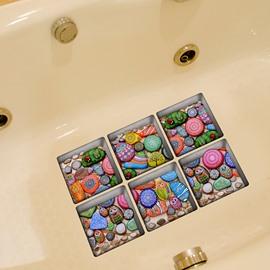 Creative Animal Pattern Stone 3D Bathtub Stickers