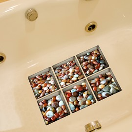 3D Stone Pattern Bathtub Stickers for Room Decoration