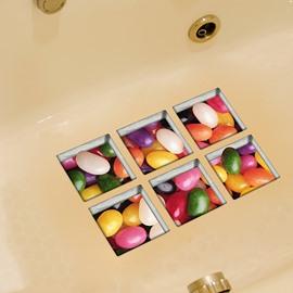 New Arrival Oval Stone Pattern 3D Bathtub Stickers
