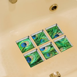 Hot Sale Peacock Pattern 3D Bathtub Stickers
