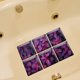 Flower Pattern 3D Bathtub Stickers