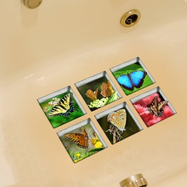 Beautiful Butterfly 3D Bathtub Stickers