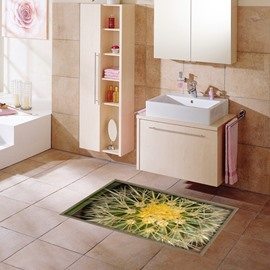 Amazing Cactus Pattern Slipping-Preventing Water-Proof Bathroom 3D Floor Sticker