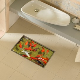 Amazing Goldfish in Water Slipping-Preventing Water-Proof 3D Floor Sticker