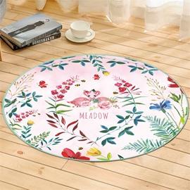 Flower Pattern Creative Environmental Friendly Waterproof Floor Sticker